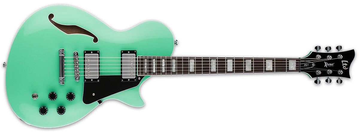 ESP LTD X-Tone PS-1 Semi-Hollow Body Electric Guitar - Sea Foam Green Finish (XPS1SFG)