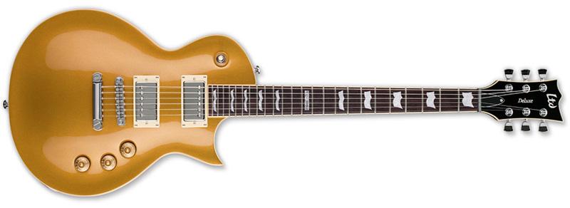 ESP LTD EC-1000 MGO EC Series Electric Guitar - Metallic Gold Finish Mahogany w/ Rosewood Fretboard (LEC1000MGO)