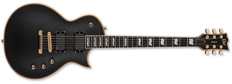 ESP LTD Ec 1000 Vb Guitar Vintage Black Mahogany Body LEC1000VB - Used Return