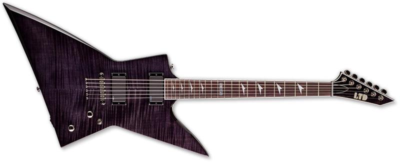 ESP LTD EX-401 FM EX Series Electric Guitar - See Thru Black Finish Mahogany Body & Neck Rosewood Fingerboard (LEX401FMSTBLK)