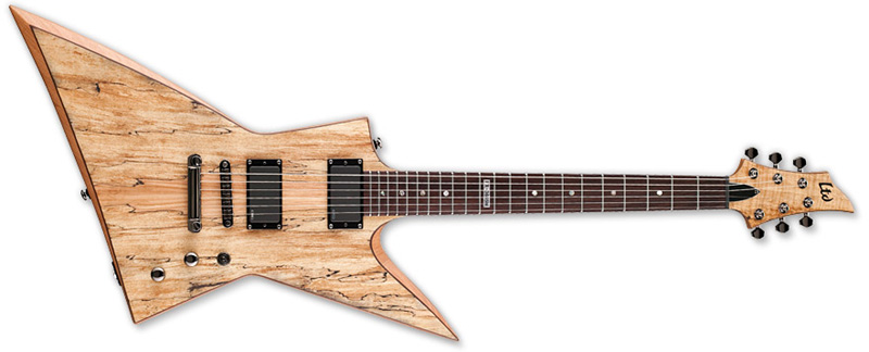 ESP LTD FX-360 SM FX Series Electric Guitar - Spalted Maple Natural Satin Finish Mahogany Body & Rosewood Fingerboard (LFX360SMNS)
