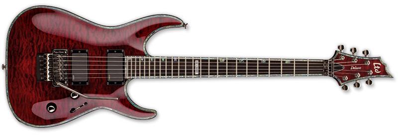 ESP LTD H-1001 Floyd Rose 1000 H-Series Electric Guitar - See Thru Black Cherry Finish Mahogany Body w/ ESP Tuners (LH1001FRSTBC)