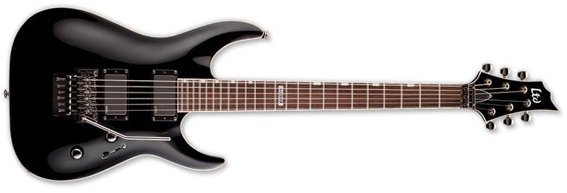 ESP LTD H-351 FR H-Series Electric Guitar - Black Finish Mahogany Body & Rosewood Fingerboard (LH351FRBLK)