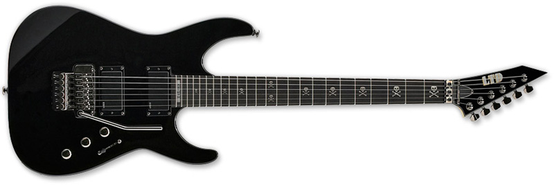 ESP LTD KH-202 Kirk Hammett Signature Series Electric Guitar - Black Finish Basswood Body Maple Neck & Rosewood Fingerboard (LKH202)