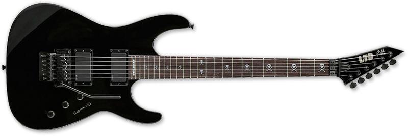 ESP LTD KH-602 Kirk Hammett Signature Series Electric Guitar - Black Finish Alder Body & ESP Tuners (LKH602)