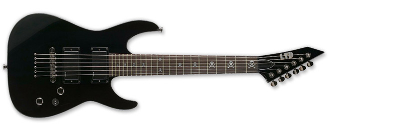 ESP LTD KH-Junior Kirk Hamlett Signature Series Electric Guitar - Black Finish Basswood Body & ESP Tuners (LKHJR)