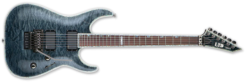 ESP LTD MH-1000 Fr Electric Guitar See Thru Black Finish LMH1000STBLK New Return