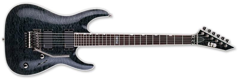ESP LTD MH-350 Electric Guitar See Thru Black Finish LMH350FRSTBLK - Used Return
