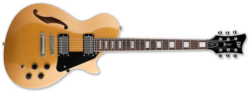 ESP LTD PS-1 X-Tone Paramount Hollow Body Electric Guitar Metallic Gold Finish (XPS1MGO)