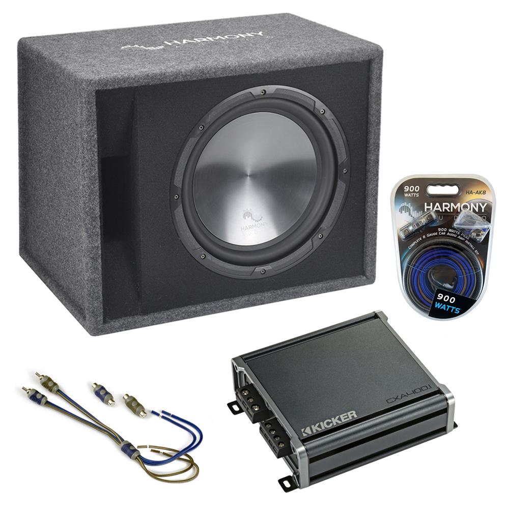 """Fits Honda Civic 92-17 Harmony Single 12"""" Loaded Sub Box Enclosure CXA400.1 Amp"""