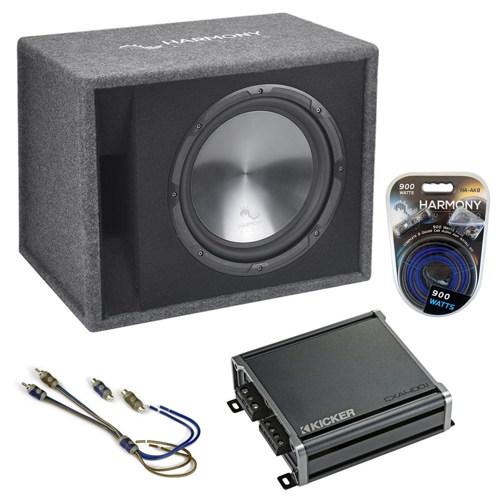 """Fits Honda CRZ 11-16 Harmony Single 12"""" Loaded Sub Box Enclosure & CXA400.1 Amp"""