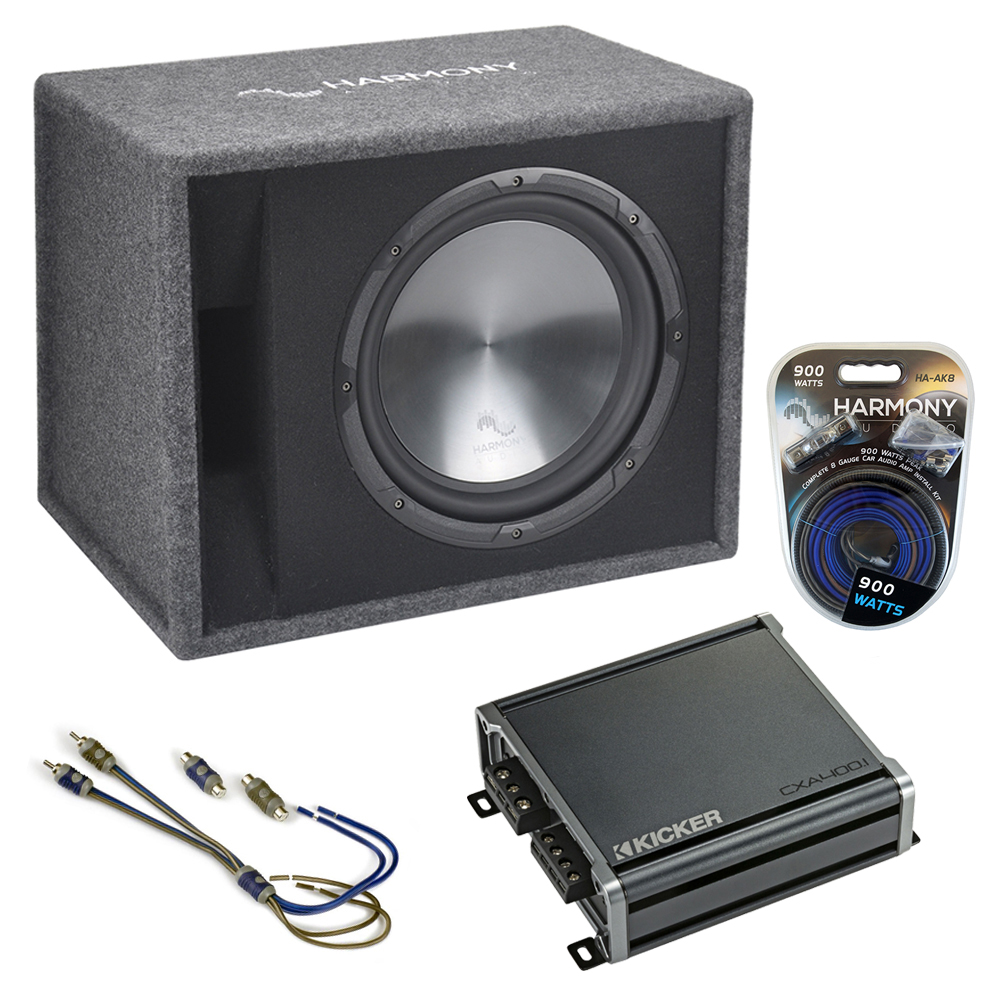 """Fits Hyundai Santa Fe 01-17 Harmony Single 12"""" Loaded Sub Box Enclosure CXA400.1"""