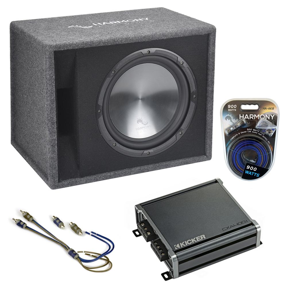 """Fits Infiniti FX35 03-13 Harmony Single 12"""" Loaded Sub Box Enclosure CXA4001 Amp"""