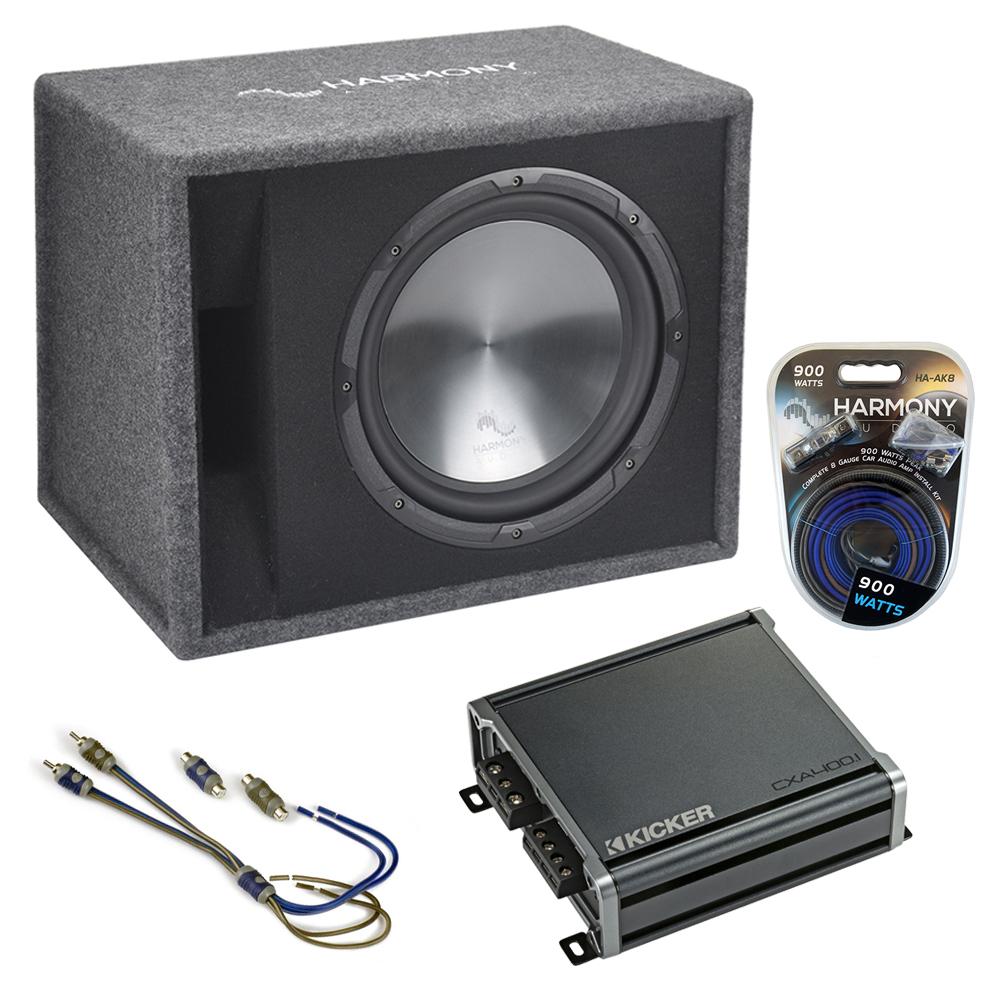 """Fits Jeep Liberty 02-12 Harmony Single 12"""" Loaded Sub Box Enclosure CXA400.1 Amp"""