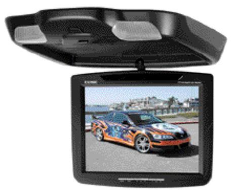 "Exonic EXM1040N Car Mobile Video 10.4"" Flip Down TFT LCD TV Monitor Screen"