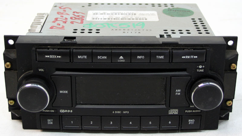 Dodge Charger 2006-2007 Factory Stereo 6 Disc Changer MP3 CD Player OEM Radio RAQ