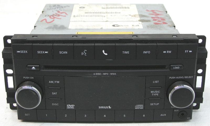 Dodge Avenger 2008-2010 Factory Stereo Sirius Ready 6 Disc Changer MP3 CD Player OEM Radio