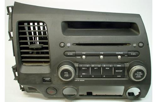 2007-2008 Honda Civic Factory AM/FM Radio CD MP3 Player