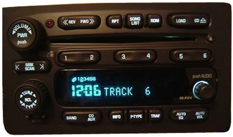 2003 2004 2005 Chevy Tahoe Factory Stereo 6 Disc Changer CD Player OEM Radio