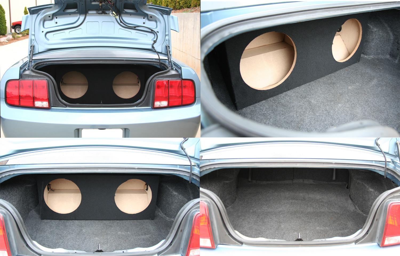 Renewed Compatible with 2005-2015 Ford Mustang Coupe Kicker Comp C10 Dual 10 Custom Sub Box Enclosure /& CXA600.1 Amp