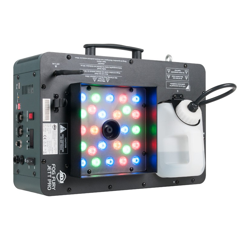 American DJ FOG FURY JETT PRO High Velocity Vertical Fog Machine with Built In LED Lights and Remote Control