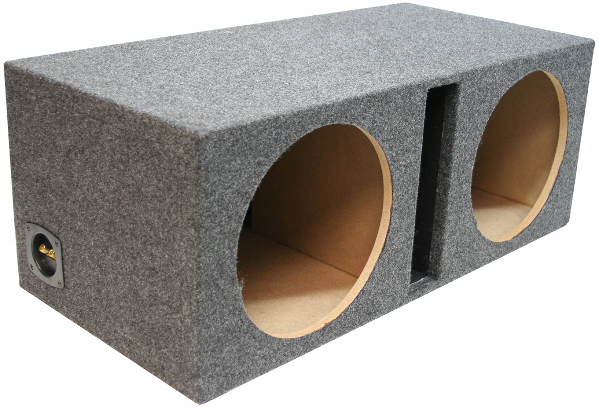 """Car Audio Dual 10"""" Vented Subwoofer Stereo Sub Box Ported"""