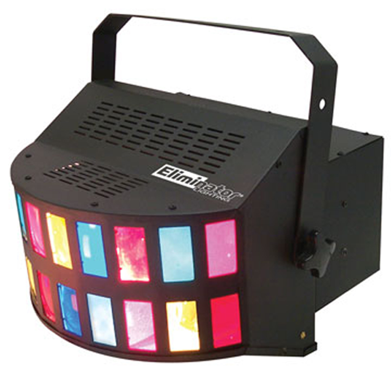 Eliminator Lighting E-108 Light Beam Effect Multi-Colored Double Derby Sound Activated Includes Hanging Bracket