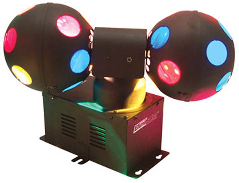 Eliminator Lighting E-111 Multi-Colored Dual Rotating Ball Effect Cosmo Ball