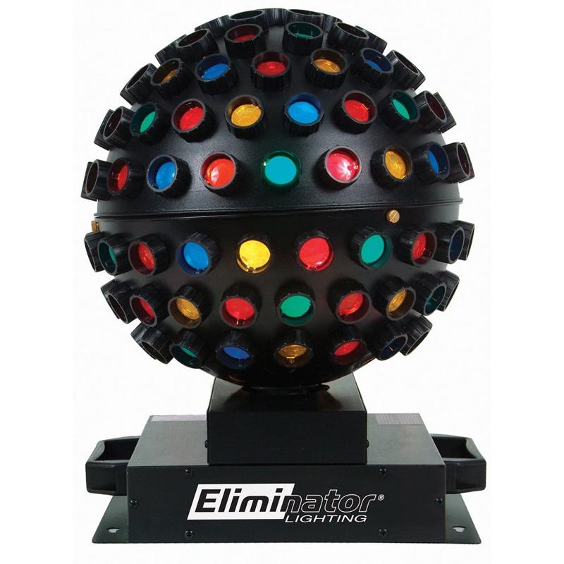 Eliminator Lighting E-112 Rotating Mirror Ball Effect Multi-Colored Beam Light Fixture