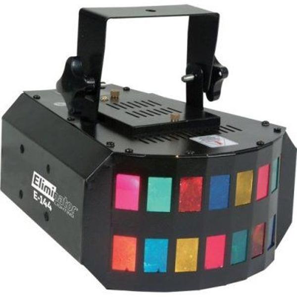 Eliminator Lighting E-144 Light Effect Multi Colored Crisscrossing Effects Mini Double Derby