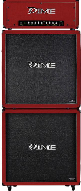 """Dime Amplification D412 Slanted 4 x 12"""" SPEAKER CABINET - Red Color D412SLRED (D412 SL RED)"""