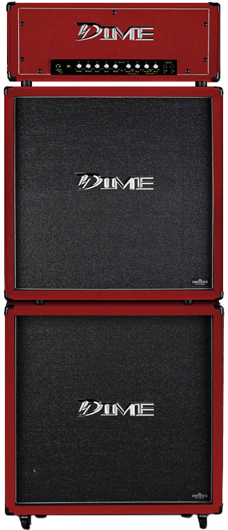 "Dime Amplification D412 Straight 4 x 12"" SPEAKER CABINET - Red Color D412STRED (D412 ST RED)"
