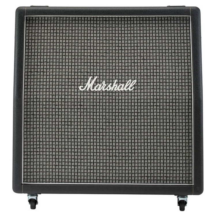 marshall m 1960ax u angled guitar speaker cabinet with 4 x 12 100 watt speakers 25w greenbacks. Black Bedroom Furniture Sets. Home Design Ideas