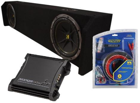 "Dual 10"" Kicker Comp Subwoofers W/ Honda Ridgeline 06-UP Enclosure"