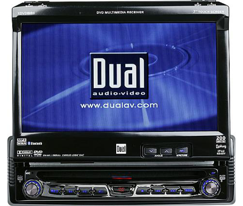 Dual XDVD8183 Car Mobile Video In-Dash AM/FM/CD/DVD Player LCD Monitor