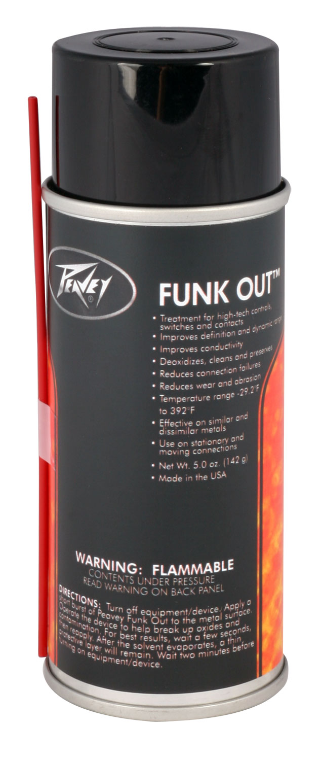 Peavey Funk Out Dirt Remover & Treatment for High-Tech Control/Switch (456600)