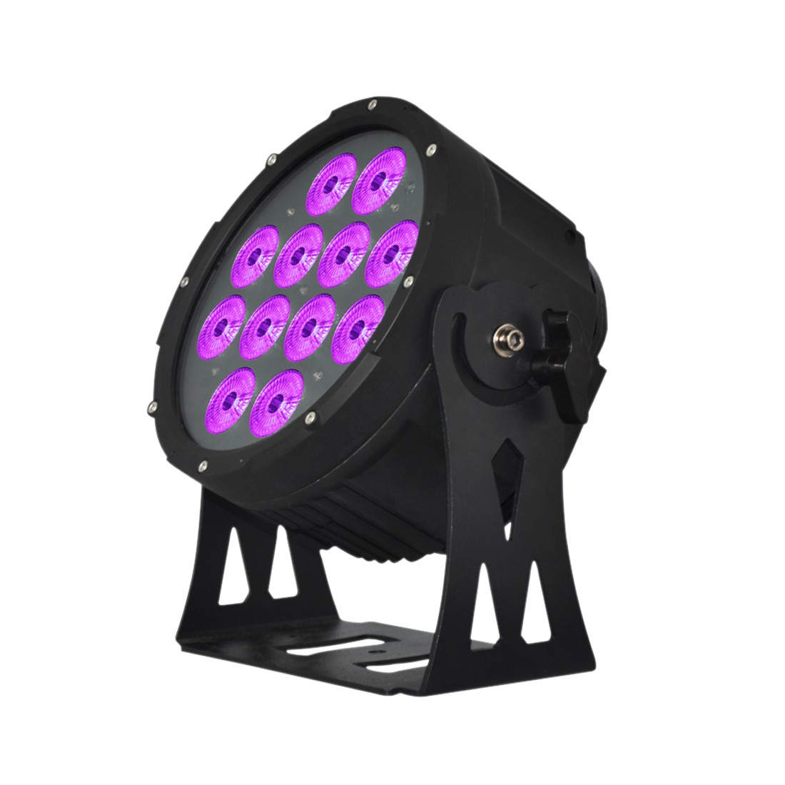 Elation SIXPAR 200IP 12 x 12-Watt 6-In-1 RGBAW Plus UV LEDs Dual Yoke/Floor Stand Par Fixture (SIX013)