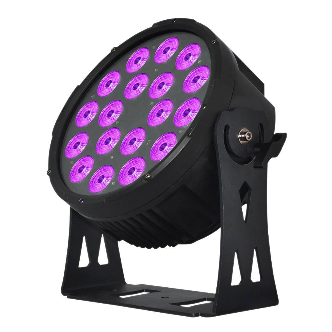 Elation SIXPAR 300IP 18 x 12-Watt 6-In-1 RGBAW Plus UV LEDs Dual Yoke/Floor Stand Par Fixture (SIX025)