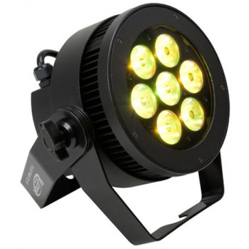 Elation Lighting LEVEL Q7 IP Rated Hi-Powered 7 x 15W Quad Color Flat Par Lights