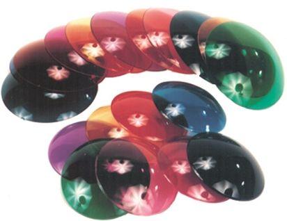 Eliminator Lighting E-106/L Colored Lenses RBGY for E106 Pinspot Package of 4