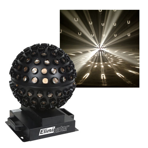 Eliminator Lighting E112 CLEAR Starsphere Centerpiece Effect with White Beams