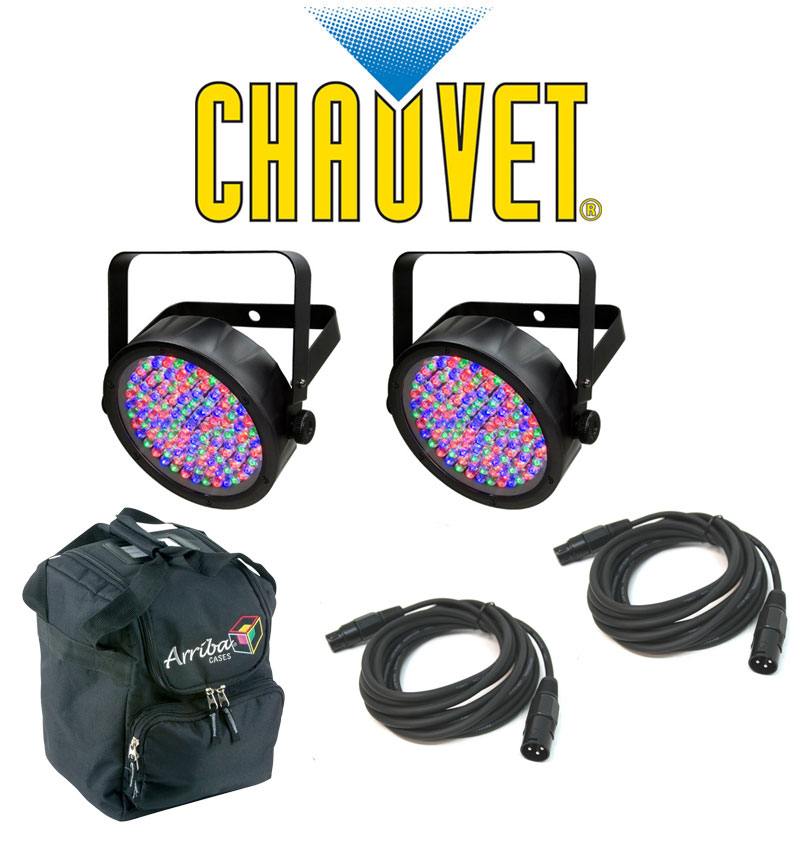 Chauvet Dj Lighting 2 Slim Par 56 Can Stage Wash Led