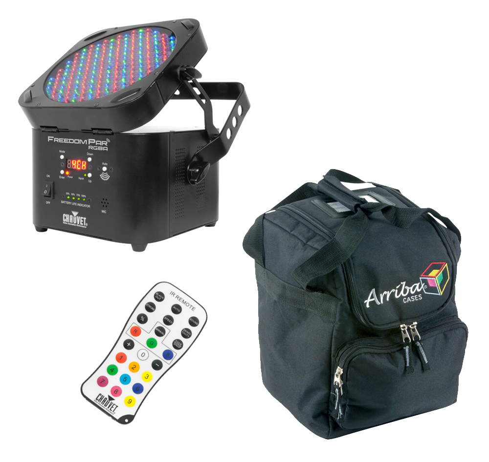Chauvet Dj Lighting Freedom Par Rgba Wireless Battery