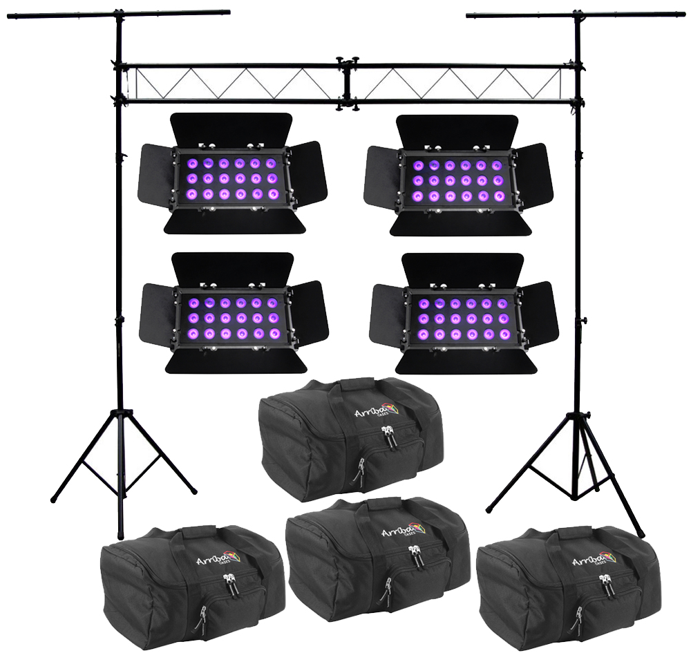 Chauvet Dj Lighting 4 Slimbank Uv 18 Wide Area