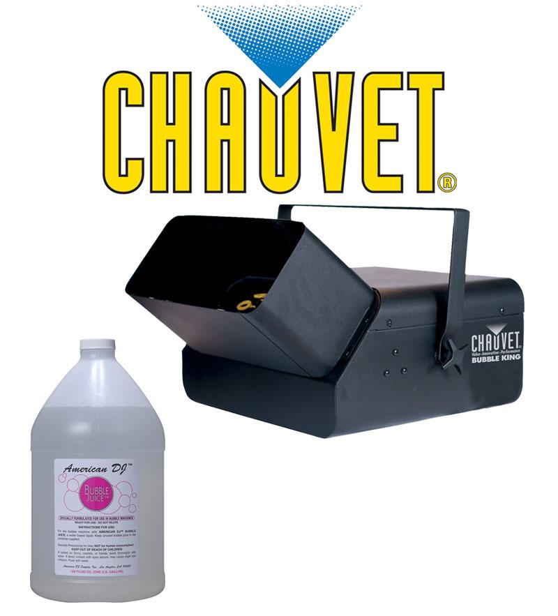 Chauvet Lighting DJ B-550 Bubble King Machine with (1) Gallon Bubble Fluid Juice Package