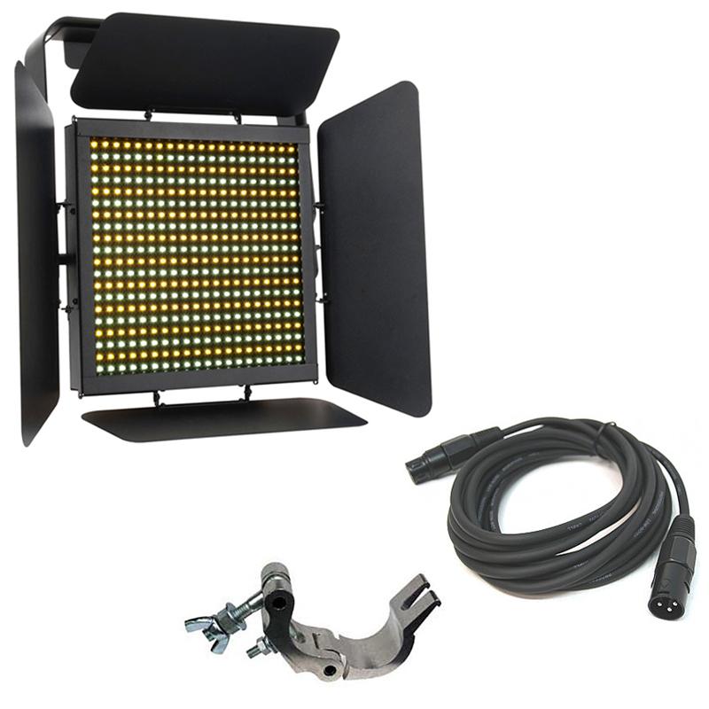 Elation Lighting TVL1000 II High CRI 400 LED Panel w/ Truss Clamp & DMX Cable