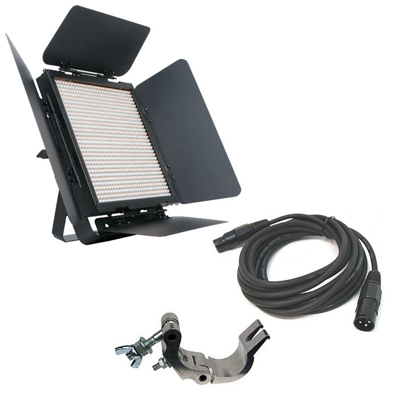 Elation Lighting TVL2000 II High CRI Dynamic 900 LED Panel w/ Clamp & DMX Cable