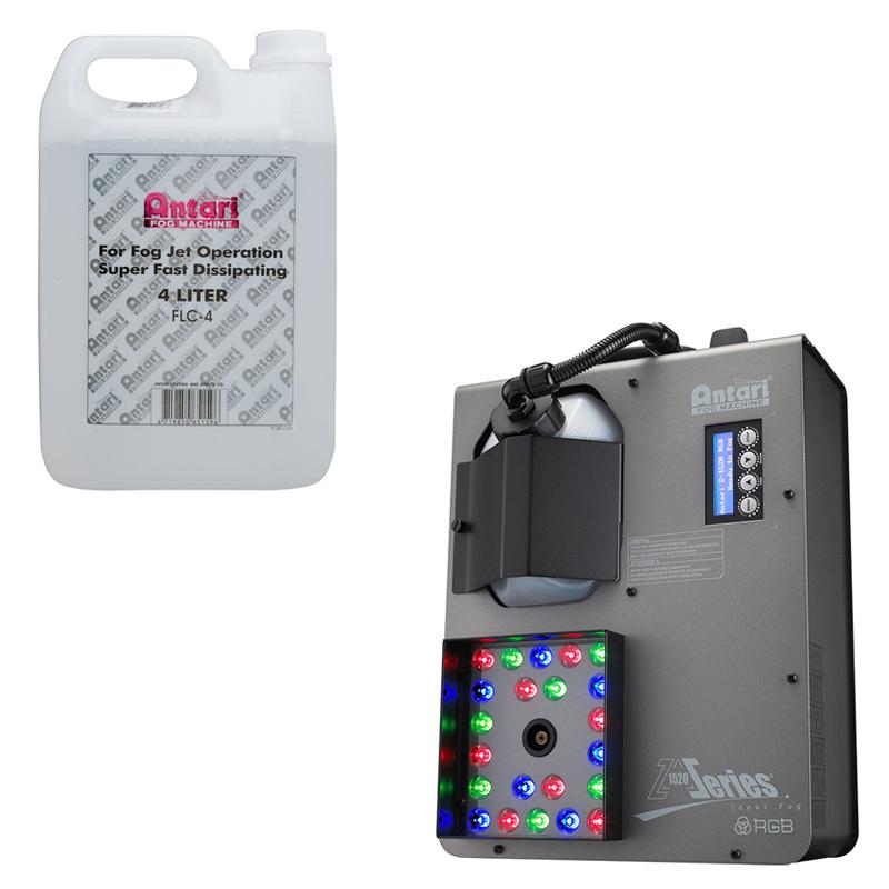 Elation Lighting Z-1520RGB 1500W Fog Effect Machine with 4-Liter Non-Toxic Fluid