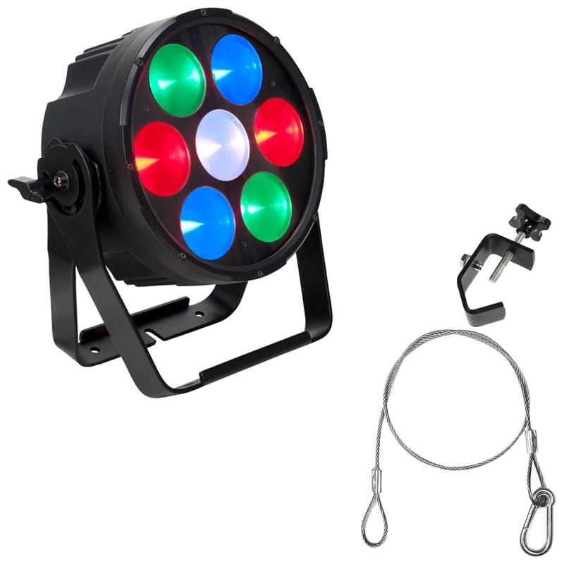 Elation Lighting CUEPIX PAR300 RGB LED Par Fixture w/ Clamp and Safety Harness