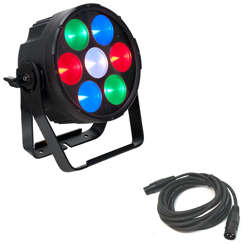 Elation Lighting CUEPIX PAR300 RGB LED Par Fixture w/ 15 Foot 3 Pin DMX Cable